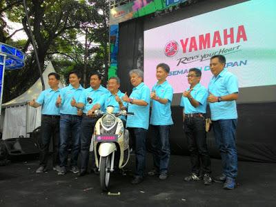 Serunya Launching Yamaha New Fino 125 Blue Core di Cikapundung Riverspot Bandung