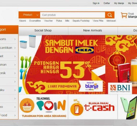 Blanja.com, Situs Jual Beli Terpercaya Mitra eBay Indonesia