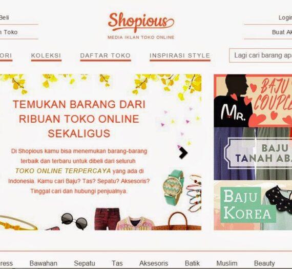 Shopious.com, Tempat Berkumpulnya Semua Online Shop Terpercaya di Indonesia