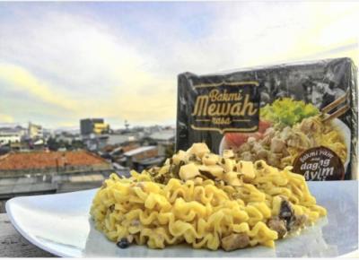 Kreasi Bakmi Carbonara Cheese Menggunakan Bakmi Mewah Yang Menggugah