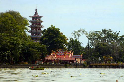 Jembatan Ampera dan Pulau Kemaro Palembang