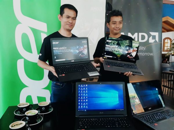 Dimas Setyo, Presales Manager Acer Indonesia - Donnie Brahmandhika, Product Marketing AMD Indonesia