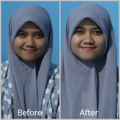 Before After Pemakaian Fair and Lovely 2 in 1 Powder Cream