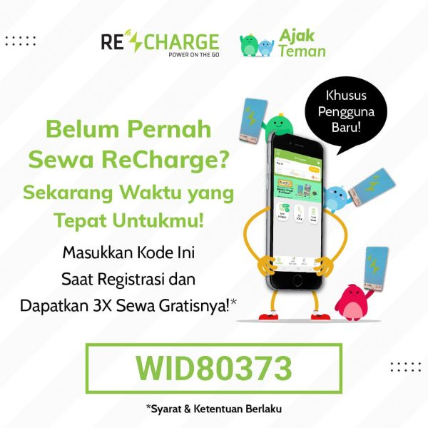 cara sewa power bank