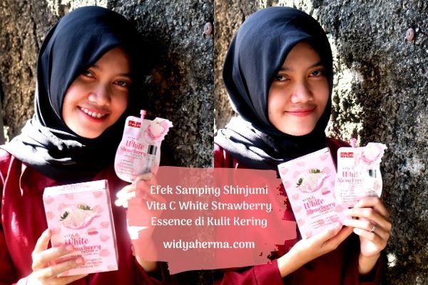 Efek Samping Shinjumi Vita C White Strawberry Essence di Kulit Kering
