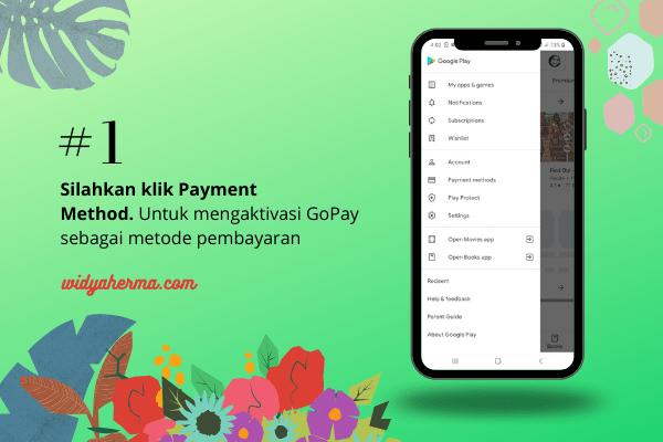Aktivasi Pembayaran Gopay di Google Play