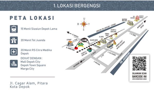 Peta Lokasi D'Palm Residence