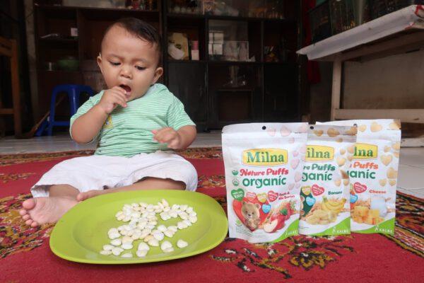 Milna Nature Puff Organic, Camilan Anak Sehat dan Praktis