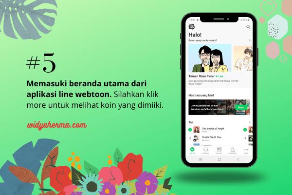 halaman utama aplikasi line webtoon