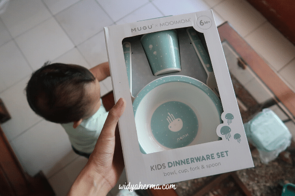 kids dinner ware set mugu baby
