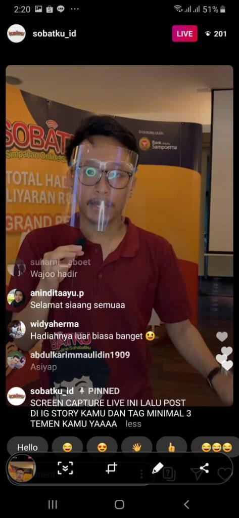 Live Instagram Undian Sobatku
