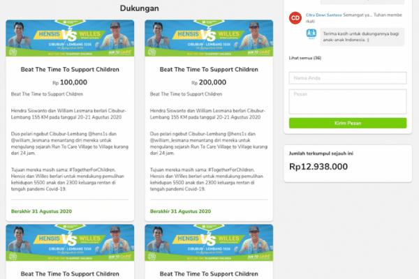 cara buat sumbangan online