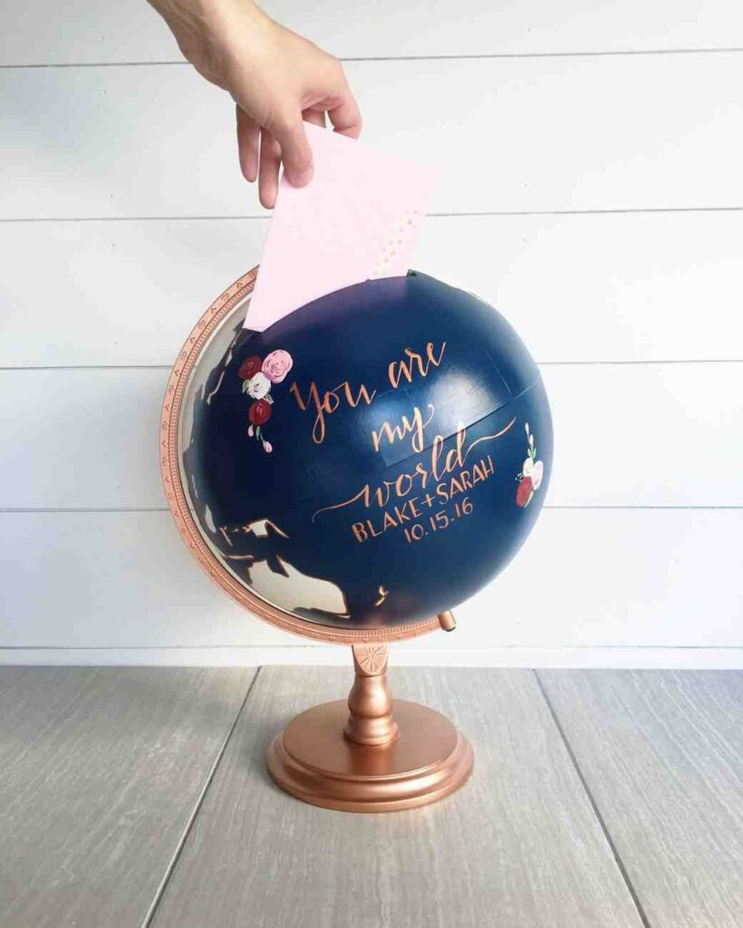 celengan bola dunia