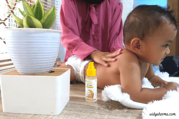 minyak telon yang cocok untuk kulit bayi sensitif