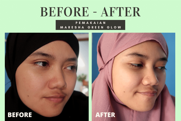 before after maresha green glow